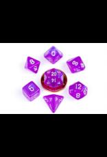 Metallic Dice Games 10mm Mini Stardust Acrylic Poly Dice Set: Purple (7)