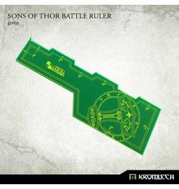 "Kromlech Sons of Thor Battle Ruler (Green) 6"""