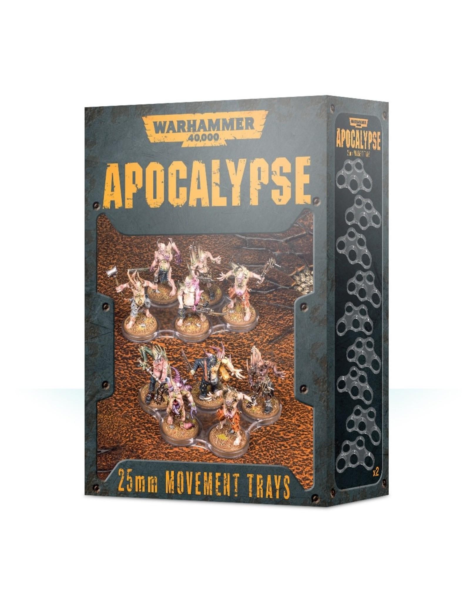 Games Workshop Apocalypse Movement Trays: 25mm