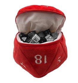 Ultra Pro D20 Plush Dice Bag - Red