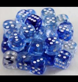 Chessex Nebula Dark Blue/White 12mm D6 (36)