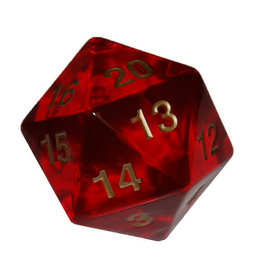 Chessex 55mm Jumbo d20 Translucent Red w/ gold