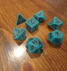 HD Dice, LLC. Ancient Green Poly Dice (7)