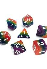 HD Dice, LLC. Rainbow Stripe Poly Dice (7)