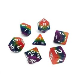 HD Dice, LLC. Rainbow Stripe Poly Dice (7)