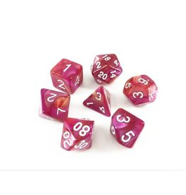 HD Dice, LLC. Blend Yellow-Rose Poly Dice (7)