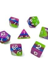 HD Dice, LLC. Layer Green, Purple, Blue Poly Dice (7)