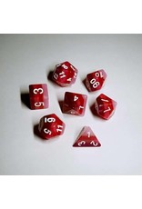 HD Dice, LLC. Gradient Red-White Poly Dice (7)