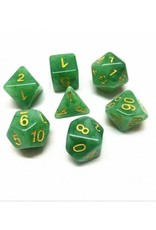 HD Dice, LLC. Jade Green/Yellow Poly Dice (7)
