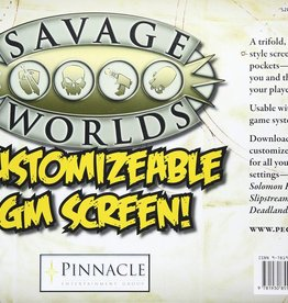 Savage Worlds RPG: Customizable GameMaster Screen