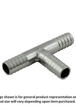 """Tee - Thinwall Stainless Steel - 5/16"""" Barb"""