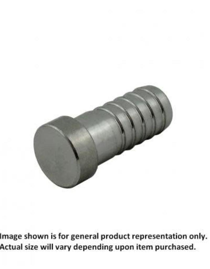 """Plug - Stainless Steel - 1/2"""" Barb"""