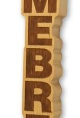 Homebrew Wooden Laser Engraved Tap Handle