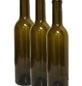 375 ml Wine Bottles (Antique Green Claret with Punt, Cork Finish) - Case/24