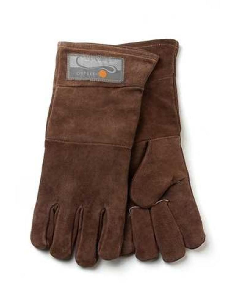 """BBQ Leather Grill Gloves - 15"""" Set of 2"""