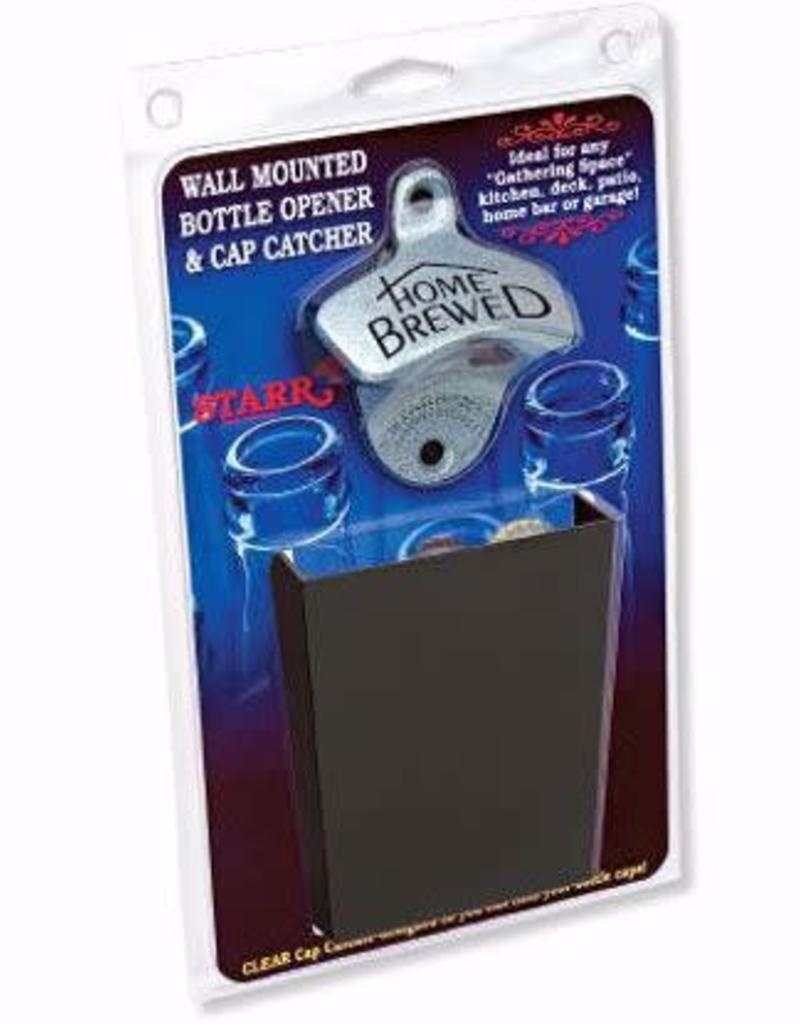 Bottle Opener & Cap Catcher Set - Home Brewed with Black Catcher