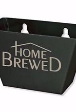 Bottle Opener Cap Catcher- Black Aluminum with Home Brewed