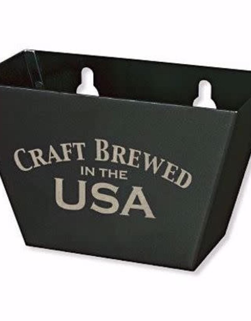 Bottle Opener Cap Catcher- Black Aluminum with Craft Brewed in the USA