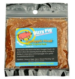 Pineapple Head Sweet Tropical Rub Seasoning Spice - Dizzy Pig - Individual Size