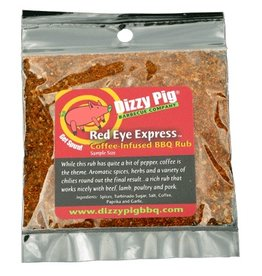 Red Eye Express Rub Seasoning Spice - Dizzy Pig - Individual Size
