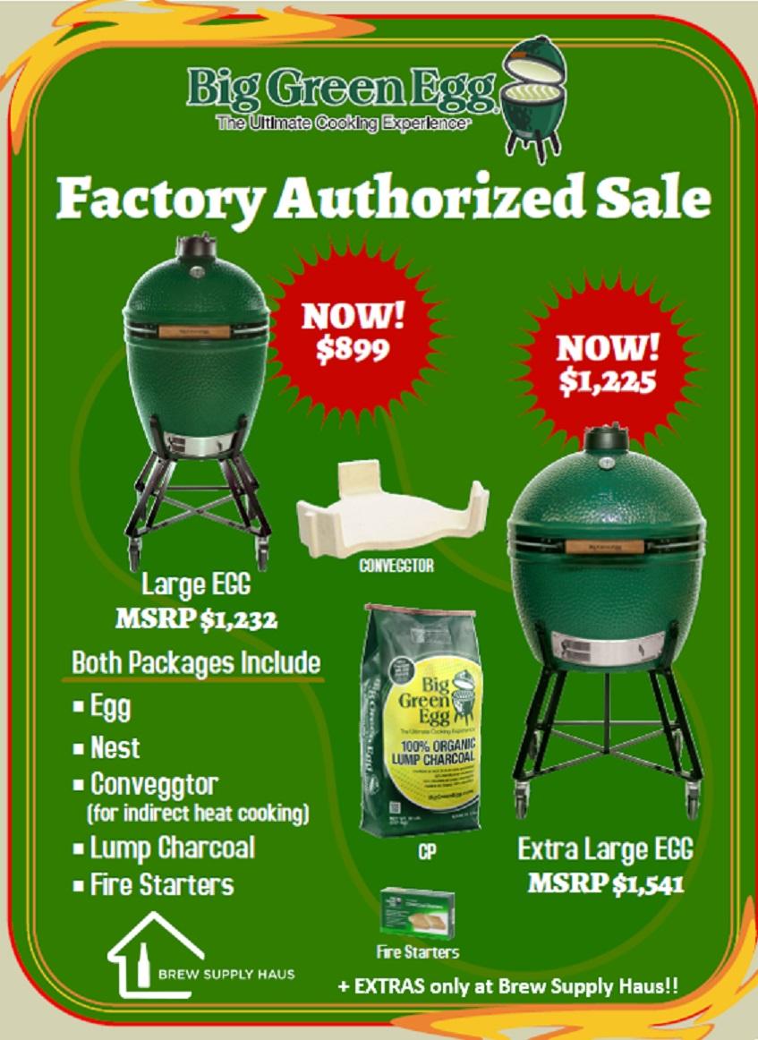 Big Green Egg Sale 2018 Brew Supply Haus