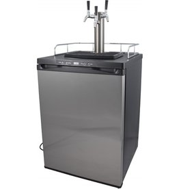 Kegerator - Triple Tap Stainless Kegerator w/ Stainless Steel Intertap Faucets