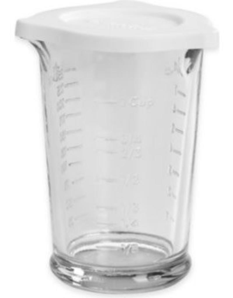 8 oz Triple Pour Measuring Cup Glass w/ Lid