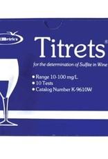 Sulfite Test (Testing) Kit - Titrets