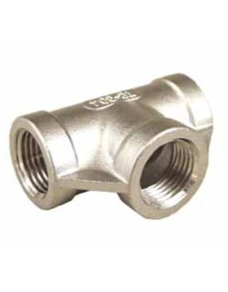 "Tee - Stainless Steel -1/2"" FPT"