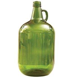 Green One Gallon Glass Jug (jar)