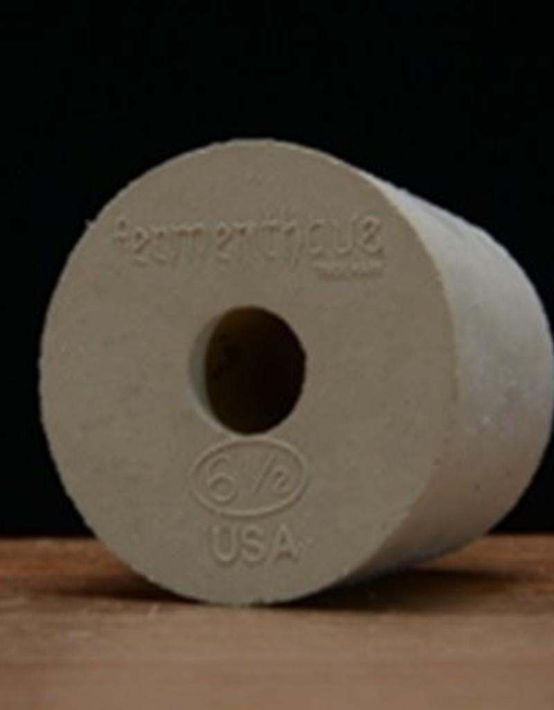 #6-1/2 Drilled Rubber Stopper / Bung