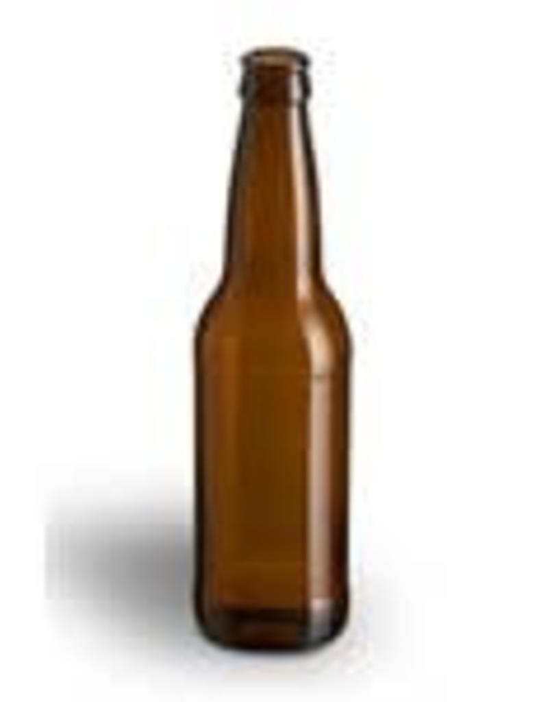 12 oz Beer Bottles Amber - Case/24