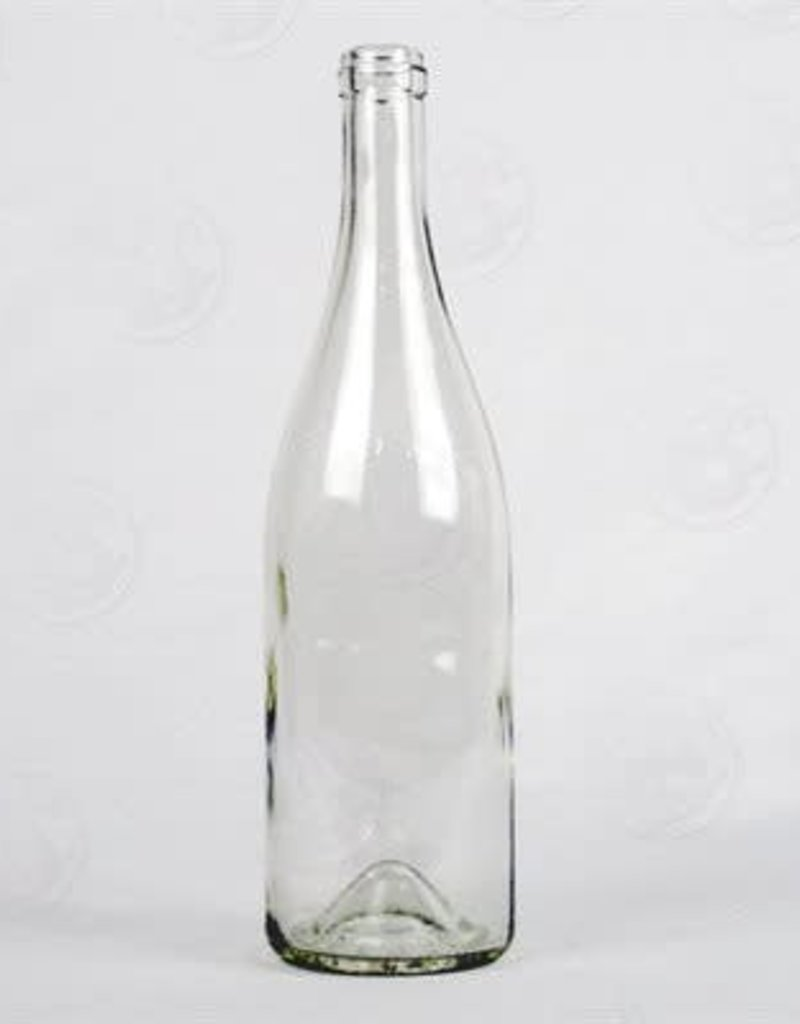 750 ml Wine Bottles (Flint Burgundy with Punt, Cork Finish) - single