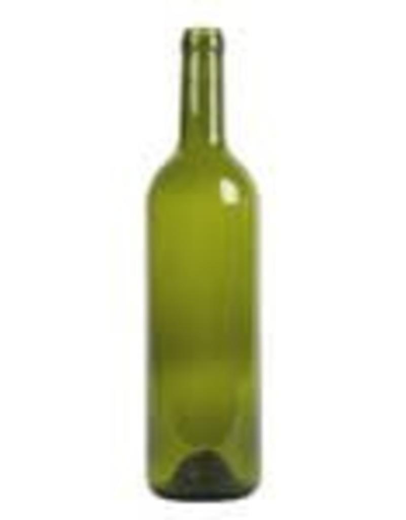 750 ml Wine Bottles (Green Claret with Punt, Cork Finish) - Case/12