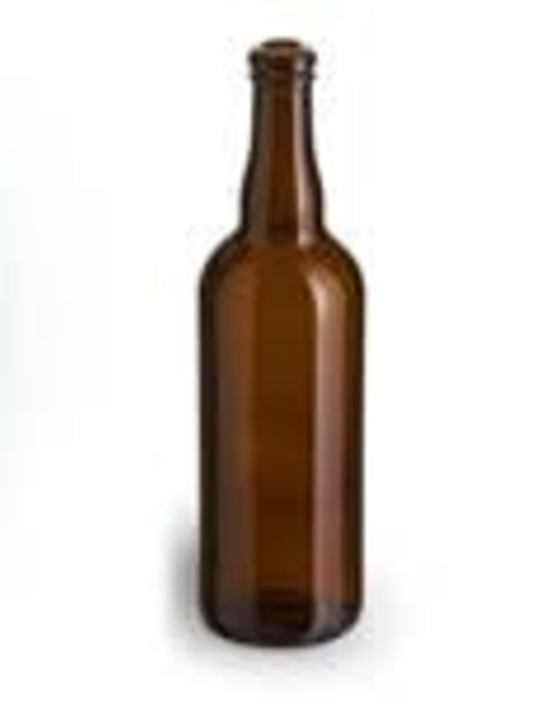 750 ml Belgian Glass Beer Bottles (Amber) Case/12
