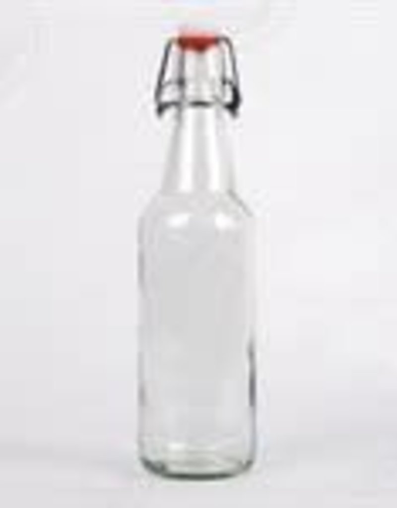 500 ml (500ml) Clear Flip Top Bottles - Case/12