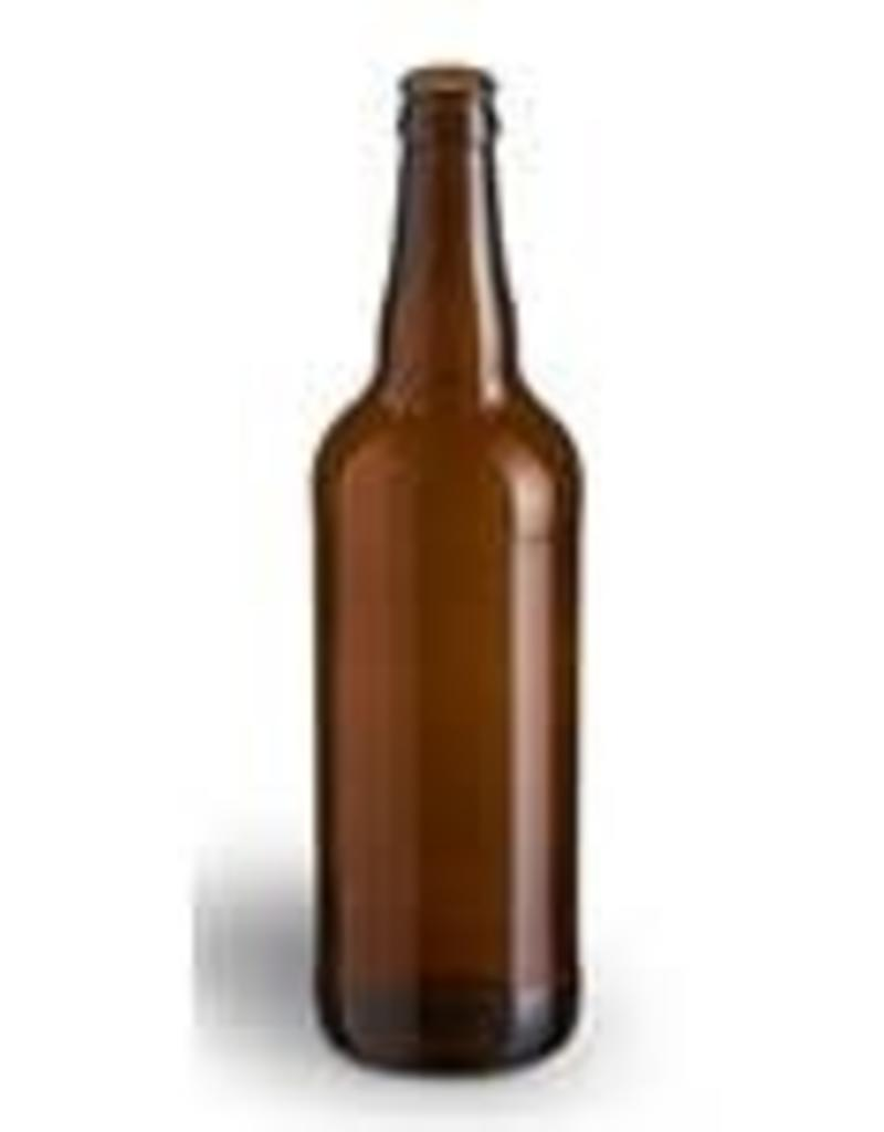 22 oz Bomber Amber Beer Bottles - Case/12