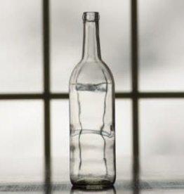 750 ml Wine Bottles (Flint Clear Claret Flat Bottom, Cork Finish) Case/12