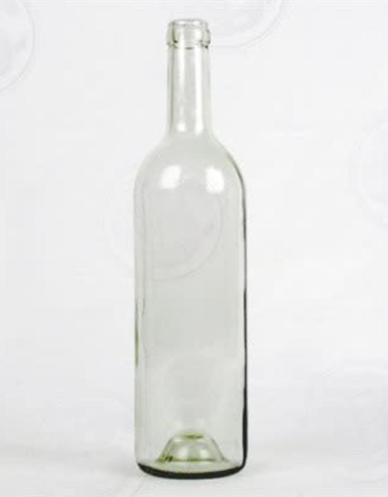 750 ml Wine Bottles (Flint Claret with Punt, Cork Finish) - Case/12