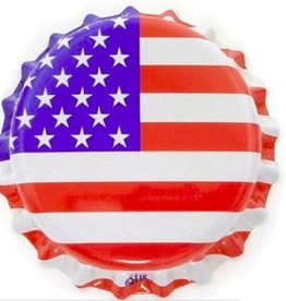 Beer Bottle Crown Caps (American Flag Oxygen Liner) - 144 ct