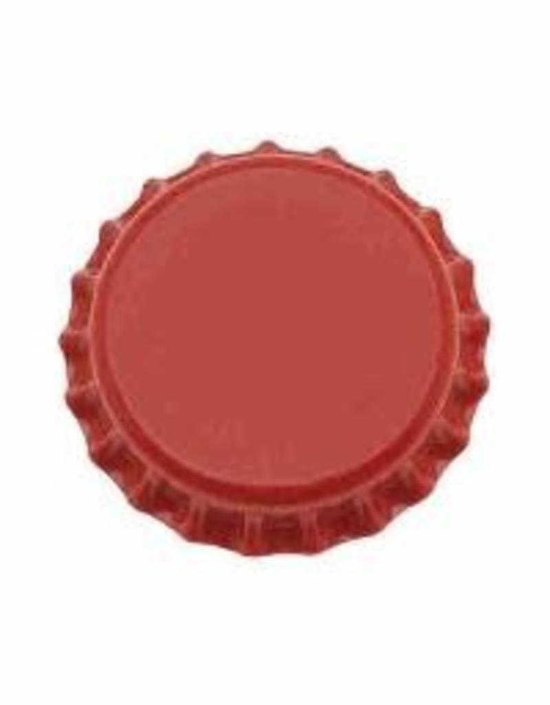 Beer Bottle Crown Caps (Red Oxygen Liner) - 144 ct