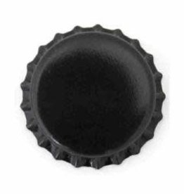 Beer Bottle Crown Caps (Black Oxygen Liner) - 144 ct