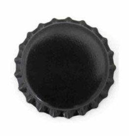 Beer Bottle Crown Caps (Black Oxygen Liner) - 144 ct