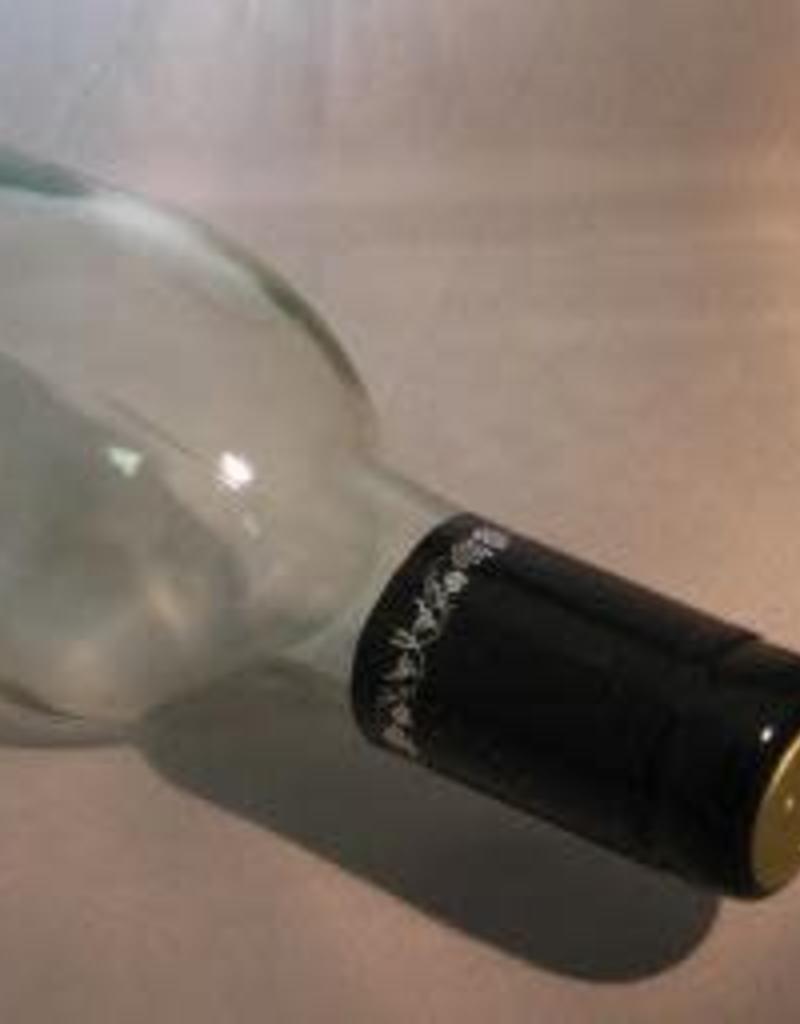 PVC Wine Bottle Shrink Capsules Black w/ Silver Grapes  (pkg 30)