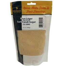 Soft Brun Leger Light Candi Sugar - 1 lb Bag