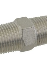 "1/2"" MPT Hex Stainless Steel Nipple"