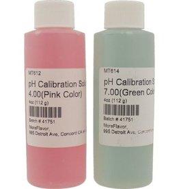pH Calibration Solution Set - 4.00 & 7.00 - 4 oz each