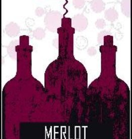 Merlot Wine Label - 30/Pack
