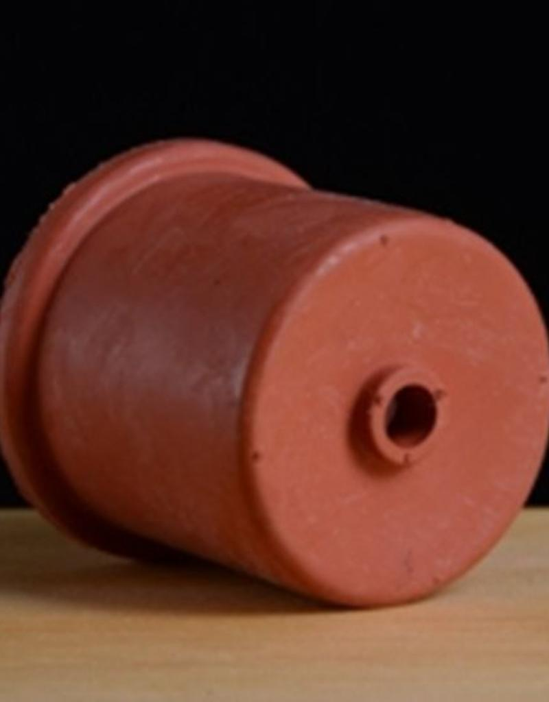 Red Rubber 50mm Universal Drilled Rubber Stopper / Bung - 5, 6, 6.5, and 7 gal Glass Carboy