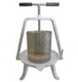 Deluxe Fruit Press - Stainless Steel Basket and Enamel Base - 20 cm
